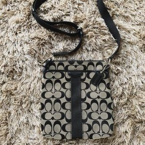 Black/Grey Coach Logo Crossbody Bag